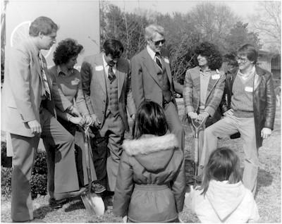 Old Braeswood Park ground breaking ceremony, circa 1979